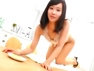 Asian College Model NN Rolling Around, Showing Off, Massage