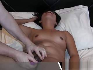 Amateur Asian Girl Giving A Blowjob